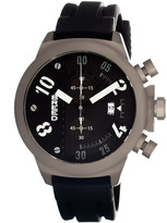 Breed Black Arnold Chronograph Watch