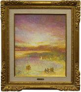 One Kings Lane Vintage Pointillism Sunset by L. Fabien