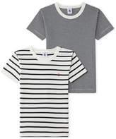 Petit Bateau Set of 2 boys striped T-shirts