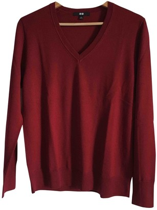 Uniqlo Burgundy Wool Knitwear for Women