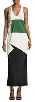 Tibi Pieza Print Silk CDC Bias Dress
