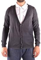 Richmond Men's Grey Cotton Cardigan.