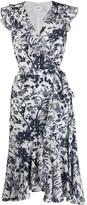 Erdem Junita floral print wrap dress