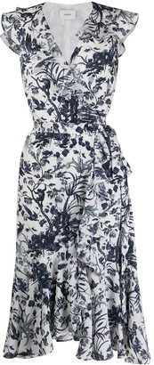 Erdem Junita floral print wrap dress