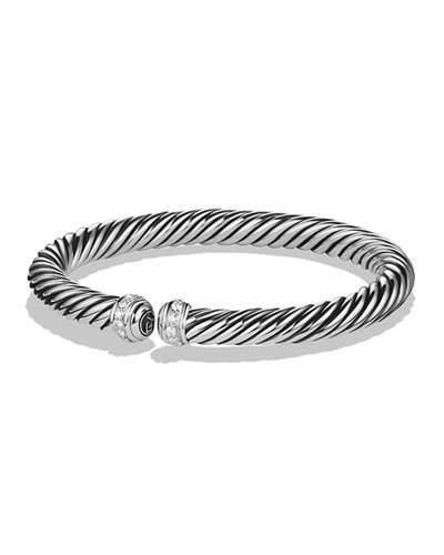 David Yurman 7mm Cablespira Diamond Bracelet