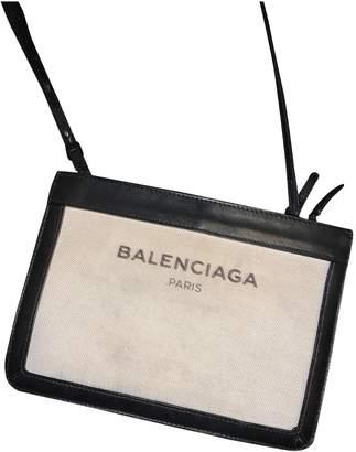 Balenciaga White Cloth Clutch bags