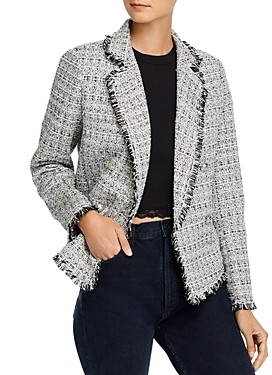 Aqua Fringed Tweed Blazer - 100% Exclusive
