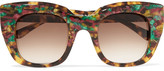 Thierry Lasry Intimacy square-frame tortoiseshell acetate sunglasses