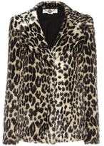 Stella McCartney Faux Fur Printed Coat
