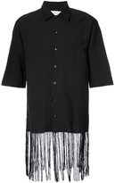 Song For The Mute fringed hem shirt