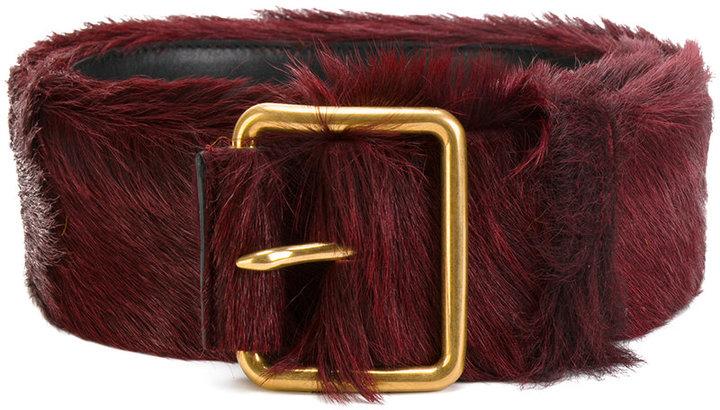 Prada fur belt