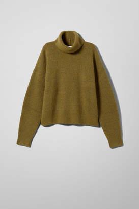 Weekday Jill Turtleneck Sweater - Yellow