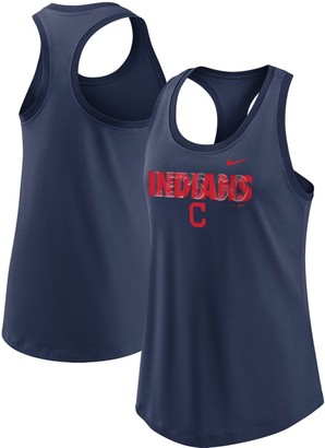Nike Women's Navy Cleveland Indians Let's Go Racerback Performance Tank Top