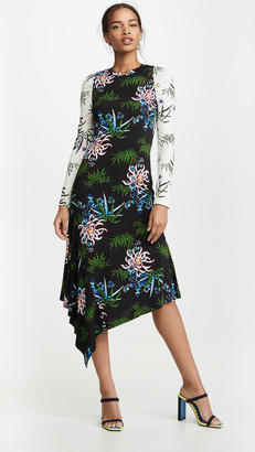 Kenzo Fluid Asymetrical All Over Dress