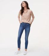LOFT Modern Step Hem Skinny Jeans in Mid Stonewash