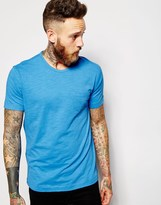 Ymc T-shirt With Pocket In Neon Blue - Blue