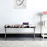Inspire Q Southport Cowhide Print 40-inch Metal Bench