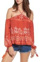 Tularosa Women's Syrah Floral Print Cold Shoulder Top
