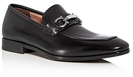 Salvatore Ferragamo Men's Benford Leather Apron Toe Loafers