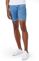 Topman Men's Embroidered Forever Slim Fit Denim Shorts