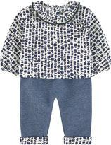 Jean Bourget Printed tunic and fleece pants