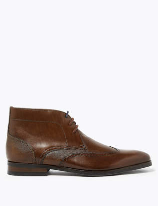 Marks and Spencer Leather Lace Up Chukka Boots