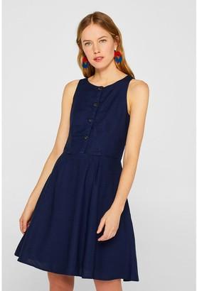 Esprit Short Sleeveless Dress with Buttons