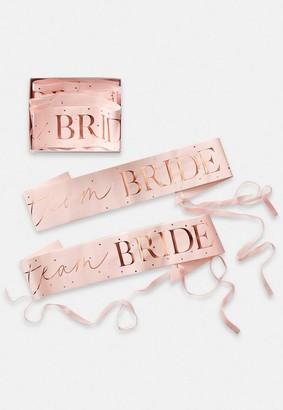 Missguided Rose Gold Team Bride Sash 6 Pack