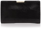 Milly Geo Debossed Frame Small Patent Leather Clutch