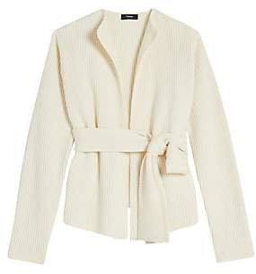Theory Women's Rib-Knit Belted Wool & Cashmere Cardigan