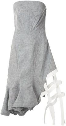 Dawei Asymmetric Strapless Dress
