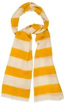 Tory Burch Wool Striped Scarf