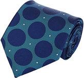 Fairfax MEN'S POLKA DOT & MICRO-DOT NECKTIE-BLUE