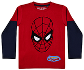 Spiderman Boys' Long Sleeved Printed T-Shirt, Red