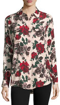 Equipment Signature Multi Floral-Print Blouse