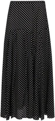 Rixo Polka Dot Midi Skirt
