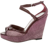 Burberry Woven Wedge Sandals