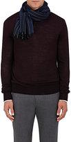 Barneys New York Men's Pinstriped Cashmere Scarf-NAVY