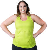 Soybu Plus Size Challenge Ruched Racerback Yoga Tank