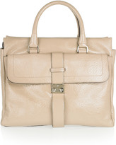Harriet textured patent-leather tote