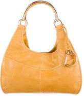 Christian Dior Leather-Lined Snakeskin Hobo