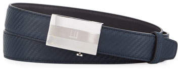 Dunhill Facet Automatic Buckle Chassis Leather Belt