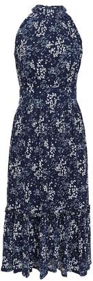 MICHAEL Michael Kors Ruffle-trimmed Floral-print Jacquard Midi Dress