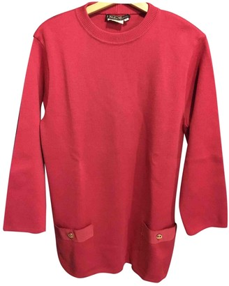 Salvatore Ferragamo Red Wool Knitwear