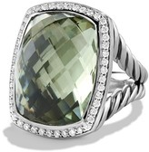 David Yurman Albion Ring with Prasiolite and Diamonds
