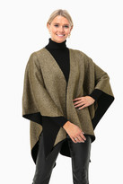 Tuckernuck Winter White & Gold Poncho