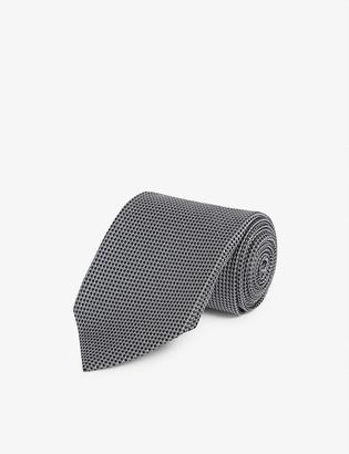 Tom Ford Contrast diamond-print silk tie