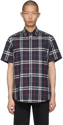 Burberry Navy Check Caxton Shirt