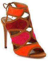 Aquazzura Vika Multicolor Suede Sandals