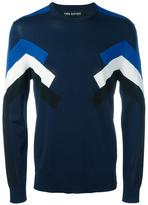 Neil Barrett geometric intarsia knitted top - men - Nylon/Viscose - L